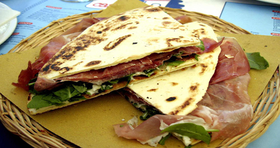 Estate 2012 in Riviera: piadina romagnola