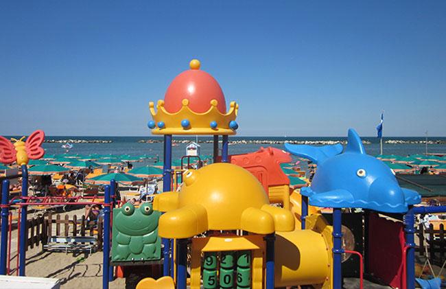 Giochi spiaggia bambini Bellaria