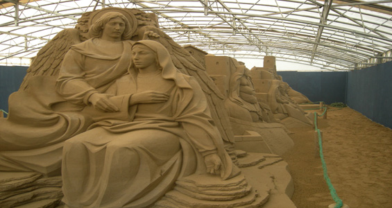 Natale a Bellaria Igea Marina, il classico Presepe di Sabbia