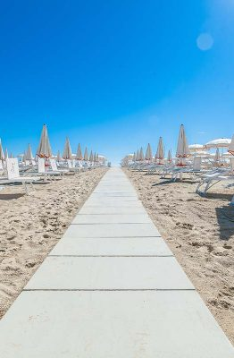 La spiaggia di Rimini