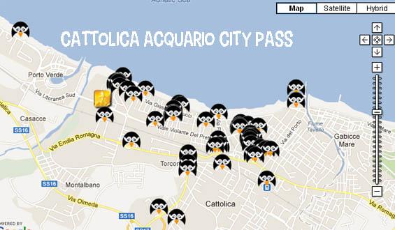 Mappa City Pass Cattolica