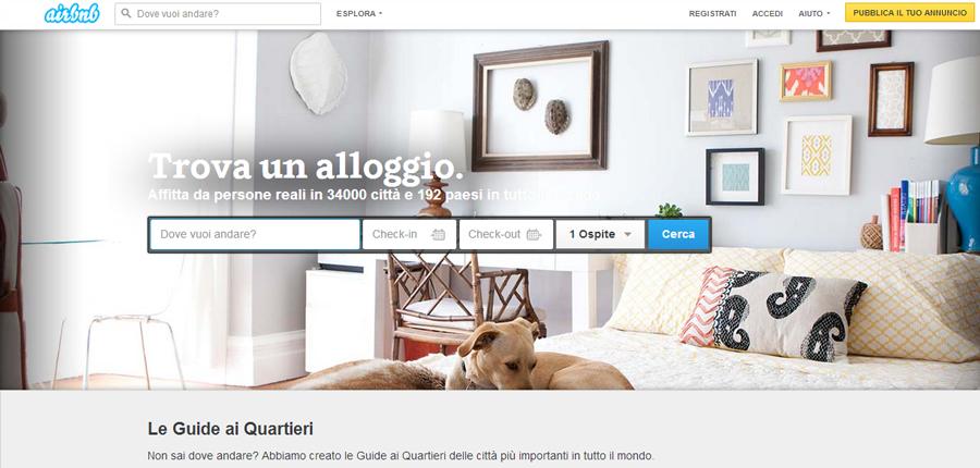 affitto posto letto airbnb