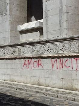 Monumenti imbrattati Rimini