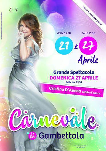 Carnevale di Gambettola 2014 - concerto di cristina d'avena