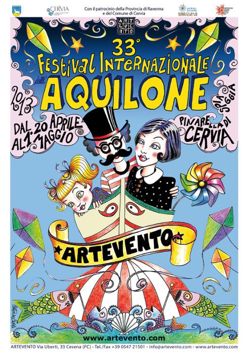festival aquiloni cervia poster 2013