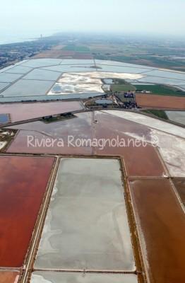 foto aerea saline di cervia