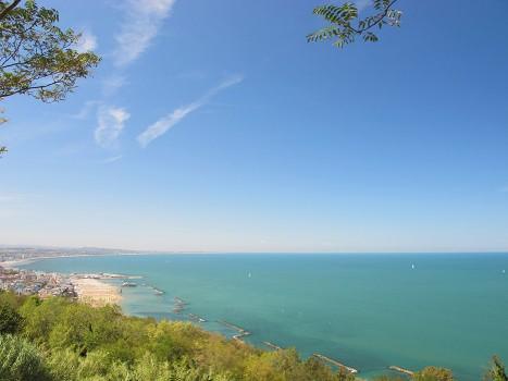 vista dall'alto gabicce mare