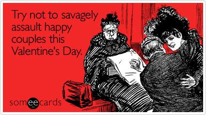 prova a non aggredire selvaggiamente le coppiette felici questo San Valentino