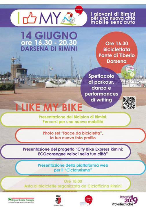 i like my bike rimini 2014- locandina