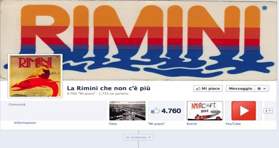 Ricordi e fotografie d'epoca di Rimini su Facebook