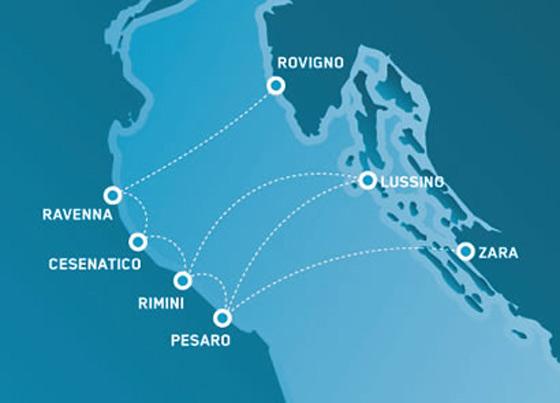 Collegamenti via mare in Adriatico