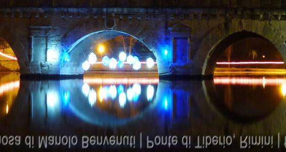 Natale 2012 Rimini-ponte di Tiberio illuminato