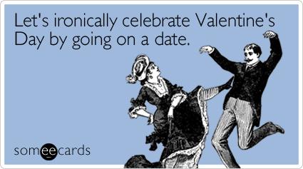 Festeggiamo in modo ironico San Valentino andando a un appuntamento