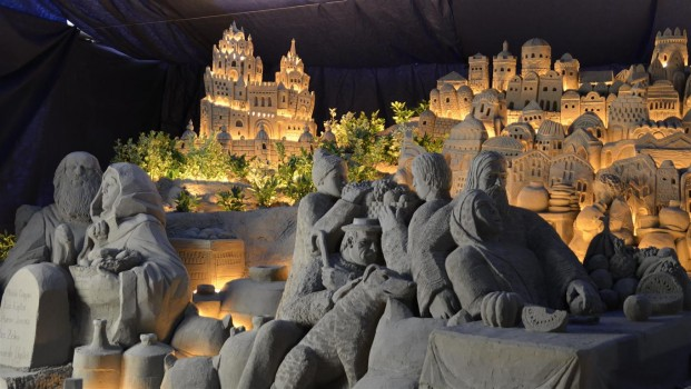 rimini presepe di sabbia