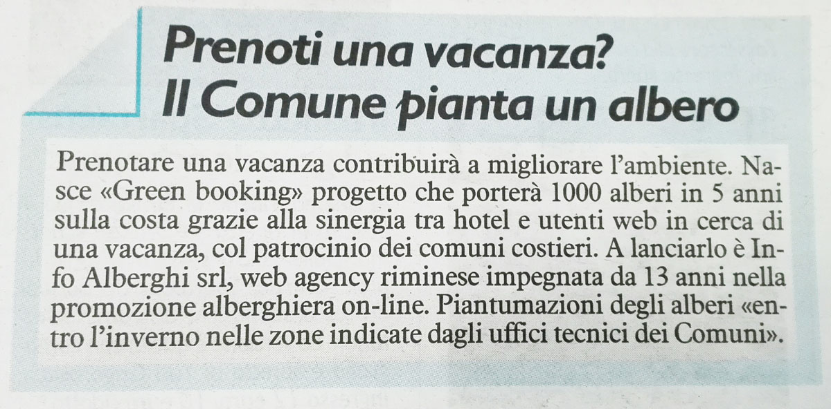Rassegna stampa Green Booking 9