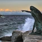 rimini statua porto